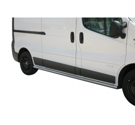 Side Protection Renault Trafic LWB (With Inox Caps)